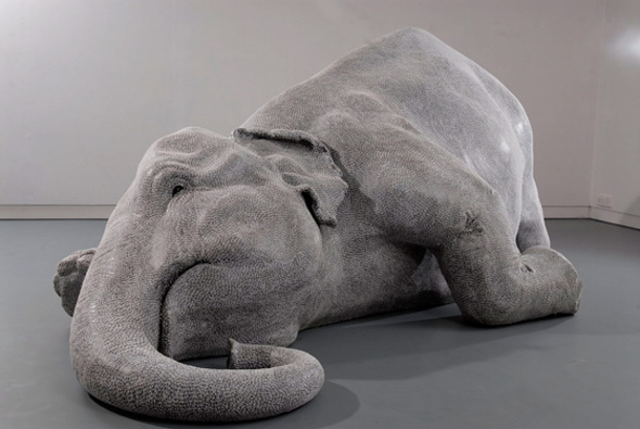 Talented young Indian artist Bharti Kher's exhausted elephant