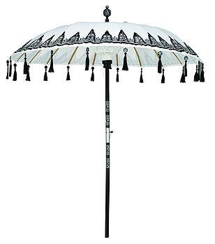 Blue and White Striped Parasol | Garden Parasols | Beach Umbrellas